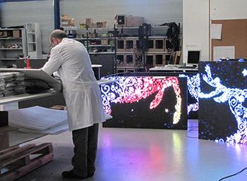 Fabrication des panneaux LED